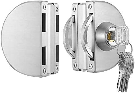 Frameless glass door lock