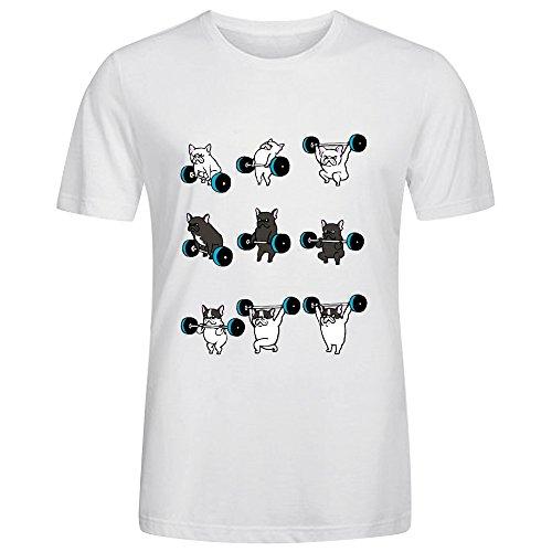 Camisetas para Hombre, diseño de Frenchie, Color Blanco