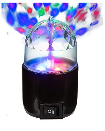 Out of the Blue 57/6043 - Rotierende Partyleuchte mit 3-farbigen LED, ca. 9 x 5 cm, mit USB-Anschluss, im Geschenkkarton