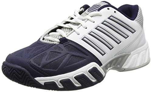 K-Swiss Men's Bigshot Light 3 Tennis Shoes (White/Navy) (13 D(M) US)