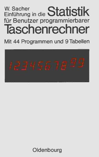 Einführung Statistik für programmierbare Taschenrechner