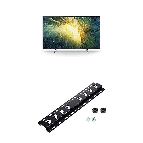Sony KD-65X7055 Bravia 164 cm (65 Zoll) Fernseher (LED, 4K Ultra HD (UHD), High Dynamic Range (HDR), Smart TV, 2020 Modell) Schwarz + Wandhalterung für BRAVIA TVs
