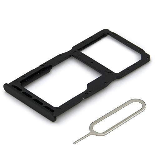MMOBIEL Dual SIM Karte Tray Schlitten Kompatibel mit Huawei P30 Lite 6.15 inch 2019 (Midnight Black/Schwarz) inkl SIM pin