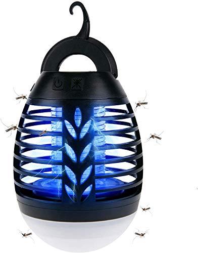 BACKTURE Lámpara Antimosquitos, IPX6 Impermeable 2 en 1 Linterna de Camping, Electrico Repelente Mosquito Insectos con...