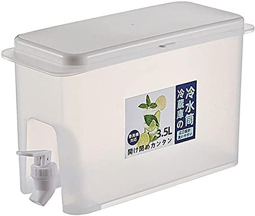 Jarra de agua fría con grifo, dispensador de agua de 3,5 L para zumo, hervidor de agua fría con espita para refrigerador, infusor de agua de hielo portátil de gran capacidad