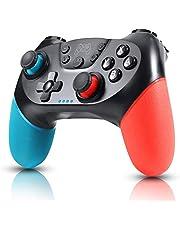 Zexrow Controller per Nintendo Switch, Wireless Bluetooth Switch Pro Controller, Switch Joystick Gamepad con Turbo Regolabile Dual Shock Gyro Axi