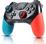 Zexrow Manette pour Nintendo Switch, Bluetooth Manette Switch Pro, Switch controller avec Batterie Rechargeable/Turbo/6-Axis Gyro/Double Moteur pour Switch Lite