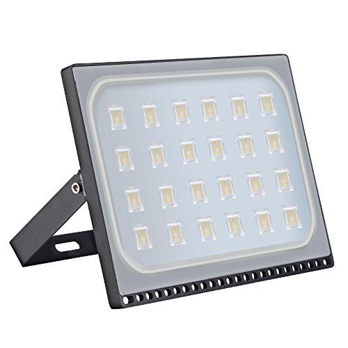 150w Spot LED ultra-mince, Imperméable IP67 Projecteur LED Extérieur, Blanc Chaud 3000K 15000 lumens pour Jardin Cour Terrasse Square Usine