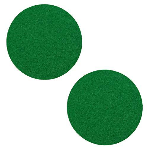 Kasteco 2 Pack Self Adhesive Air Hockey Mallet Felt Pads, Green, 94mm