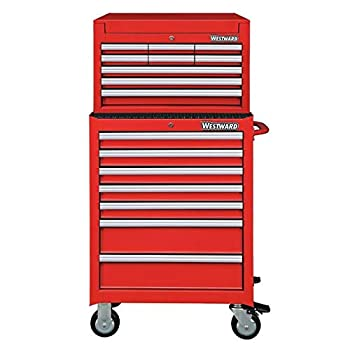 Westward 26 W Tool Chest and Cabinet Combination 16 Drawers 49-3/4 H
