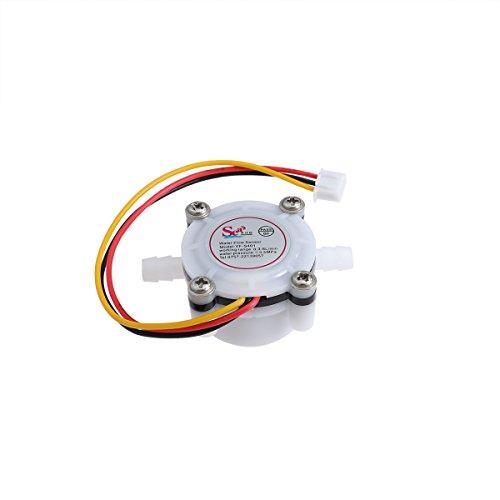 UKCOCO Sensor de Flujo de Agua, Fluid Control 0.3-6L/min DC 5V-24V Hall Sensor Caudalímetro Contador de dispensador de café para Cafetera