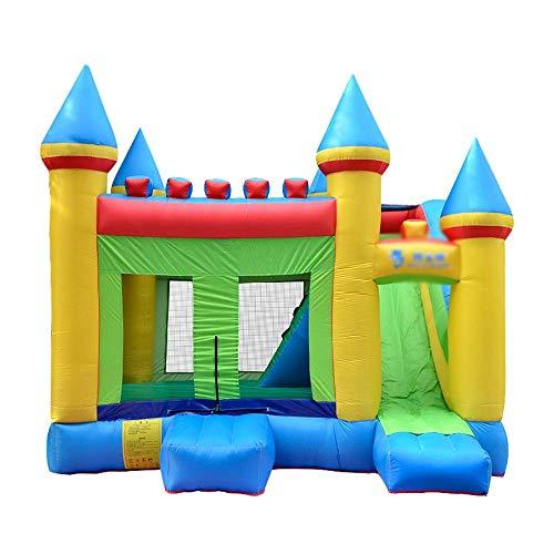 FGVDJ Castillo pequeño de guardaespaldas Inflable Gigante para casa - 410 x 380 x 330 cm Trampolín tobogán Suministros para Fiestas Infantiles Niños pequeños al Aire