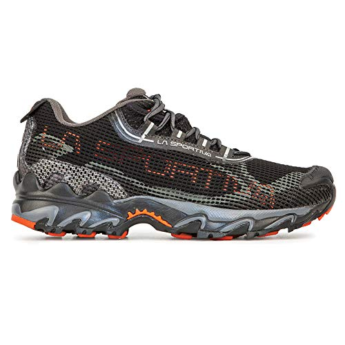 La Sportiva Wildcat 2.0 GTX Running Shoe, Black/Pumpkin, 44