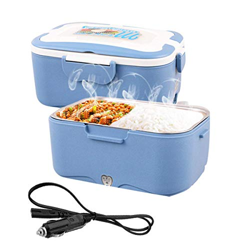 AUTOPkio 12V Fiambrera eléctrica Comida térmico 35W - 1.5L Lunch Box Fiambreras bento Uso en Coche con Bandeja extraíble Acero Inoxidable Recipiente de Comida térmico