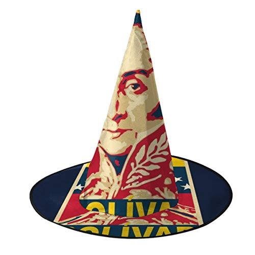 KUKHKU Bolvar Poster Sombrero de bruja Halloween Unisex Disfraz para fiesta Halloween Navidad Carnavales