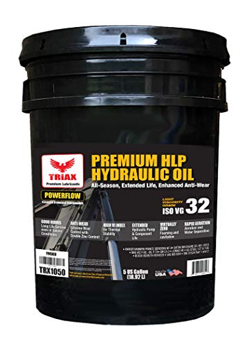 Triax POWERFLOW HLP ISO 32 Medium Hydraulic Oil | 6000 Hr Extended Life | Double Anti-Wear | True All Season | - 40 F Pour Point (5 GAL Pail)