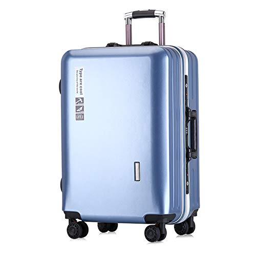 GUOQP Travel Case, Kofferkuli Fall, Aluminiumrahmen, ABS Ultra Light Außengehäuse, 20 24-Zoll-große Kapazität, Reiseetui.-5-24