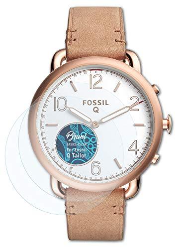 Bruni Schutzfolie kompatibel mit Fossil Q Tailor Folie, glasklare Bildschirmschutzfolie (2X)