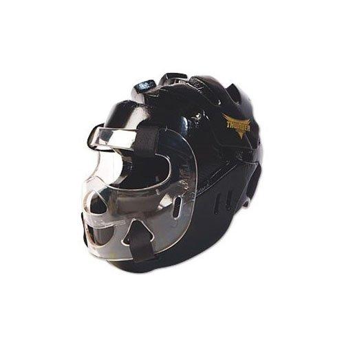 Proforce Thunder Full Headguard W/ Shield - Black Medium