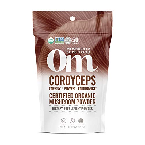Om Organic Mushroom Superfood Powder, Cordyceps, 3.5 Ounce (Pack of 1), Energy and Endurance Support Supplement