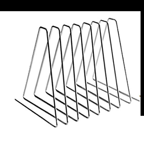 Triángulo de metal nórdico Sookends retráctiles para estantes Libro ajustable Soporte de escritorio Magazine Organizador Titular de Oficina Accesorios (Color : Black 8 Ring)