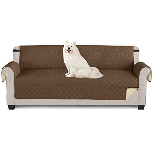 TAOCOCO Funda de sofá Impermeable Funda de cojín de protección para Mascotas Funda de sofá antisuciedad (Marrón/ 4 Plazas 195 * 218cm)