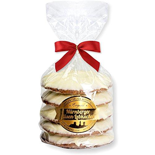 Nürnberger Elisen Lebkuchen Weiße Schokolade - 5 Stück - (1x400g)