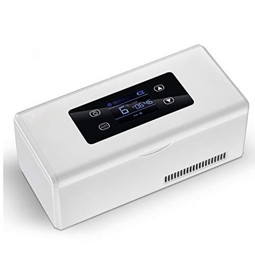 HALIGHT Mini refrigerador, refrigerador insulina para medicamentos, Caja Viaje pequeña para medicamentos, Caja refrigeración portátil automóvil, para Viajes y para el hogar