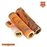 Mongoose Grip Puños para Patinete, Negro/Naranja