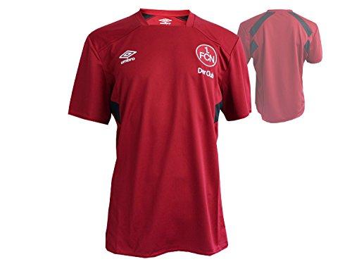UMBRO 1.FC Nürnberg Training Fussball Jersey Kinder rot Der Club Fan Shirt FCN Fußball Junior Trikot Bundesliga, Größe:158