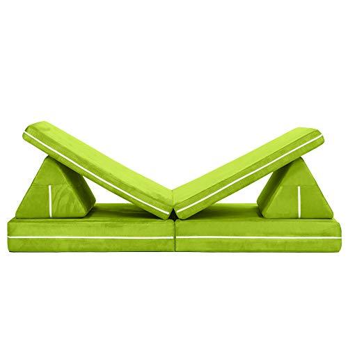 Jaxx Zipline Playscape Imaginative Furniture Playset for Creative Kids, Lime