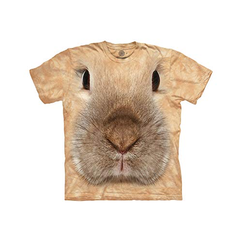 The Mountain Mädchen-T-Shirt mit Hasengesicht Gr. XL, hautfarben