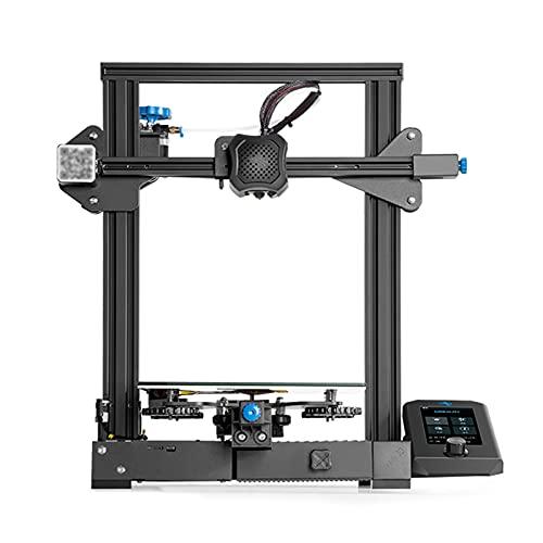 MGGRP Stampante 3D con scheda madre silenziosa, FDM stampante DYI con velocità 180 mm/s, funzione di ripresa di stampa, 220 x 220 x 250 mm, con display UI colorato e scatola integrata