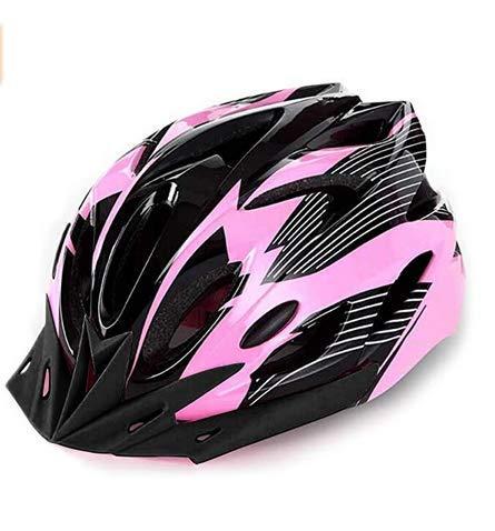 HUAZONG Casco ligero para bicicleta de carretera para adultos, para hombre, mujer, ciclismo, ciclismo, ciclismo, ciclismo, seguridad con visera desmontable/forro de repuesto (rosa)