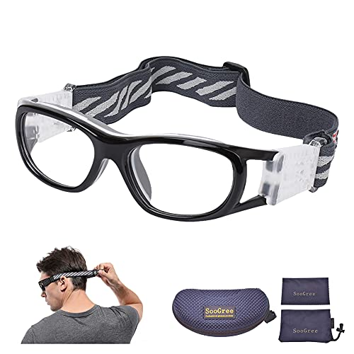 SooGree kids Basketball Soccer Football Sports Training Glasses Protective Eyewear Goggles Anti Fog Lens for Boys Grils Youth Safety Glasses Age 7-12