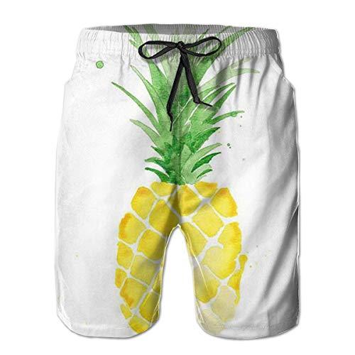 shenguang Troncos de natación Divertidos de piña Ropa de Playa de Secado rápido Deportes Correr Pantalones Cortos de natación Forro de Malla
