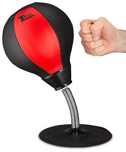 Tech Tools Stress Buster Schreibtisch-Punchingball – robuster Stressabbau – saugt sich an Ihren Schreibtisch