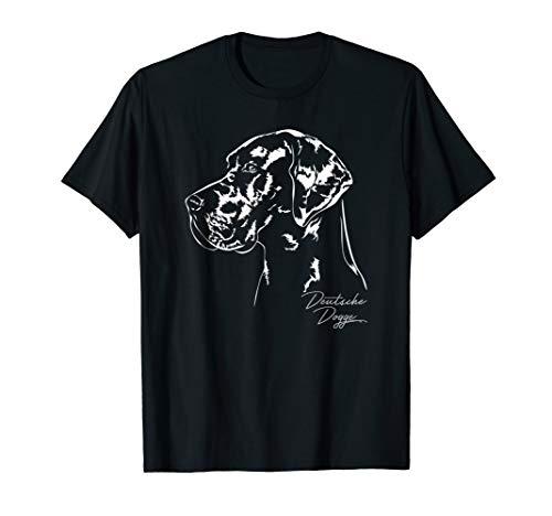 Deutsche Doggen Dogge Hund Hundeportrait Hunde T-Shirt