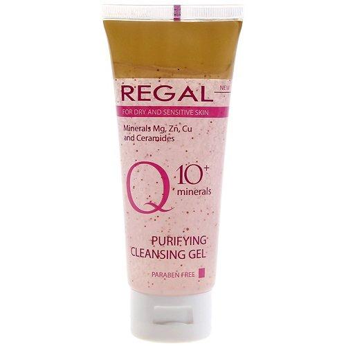 Gel Nettoyant Purifiant « REGAL Q10 plus aux minéraux » pour peaux sèches et sensibles