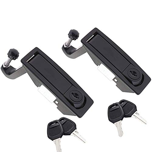 2PCS Compression Latch Lock Smith Series Powder Coated Zinc Alloy Replacement Flush Lever Latches Adjustable