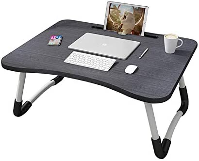 MemeHo® Smart Multi-Purpose Laptop Table with Dock Stand/Study Table/Bed Table/Foldable and Portable/Ergonomic & Rounded Edges/Non-Slip Legs(Black) product image
