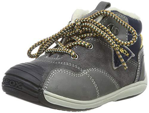 Geox Baby Jungen B Toledo Boy A Sneaker, Grau (Dk Grey/Navy C0739), 20 EU