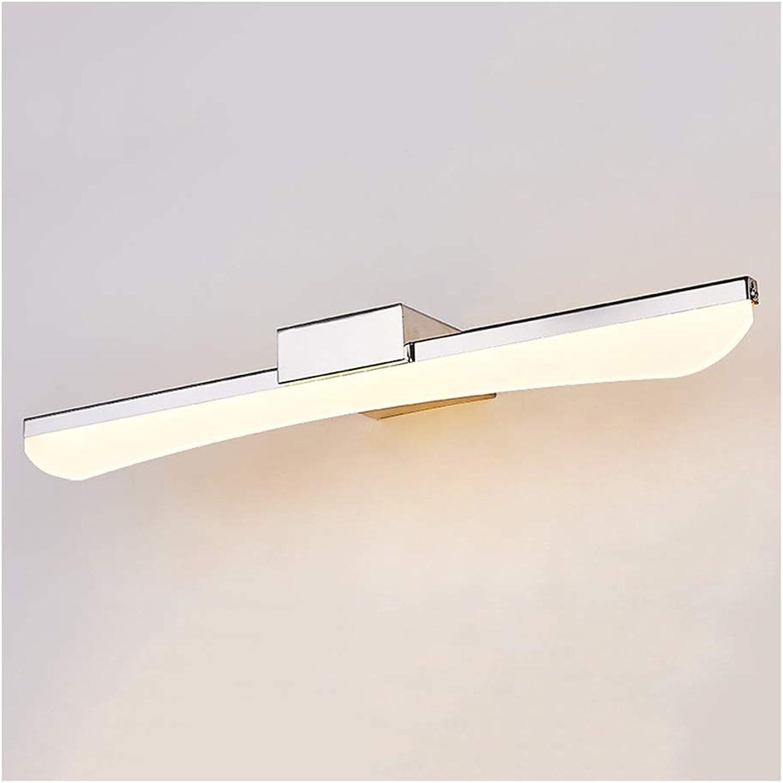 badezimmerlampe LED Bad Licht Spiegel Frontleuchte Make-Up Lampe Spiegel Kabinett Licht Wasserdicht Anti-Fog Wandleuchte (Farbe   TriFarbe light-57cm)