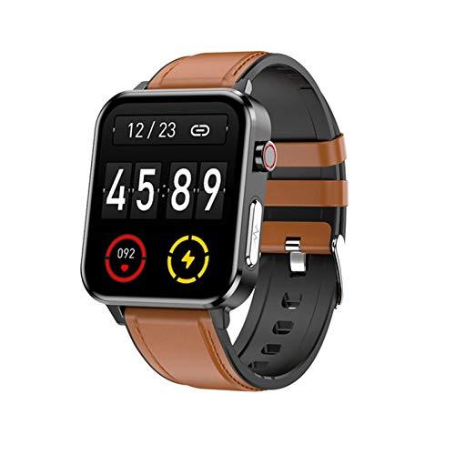 ZYDZ E86 Smart Watch, Tarifa cardíaca en Tiempo Real y Monitoreo de la presión Arterial Actividad Tracker Podómetro Men's Sports Watch Smart Pulsera,B