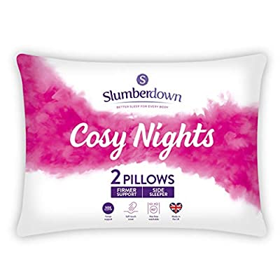 Slumberdown Cosy Nights White Pillows Support Designed