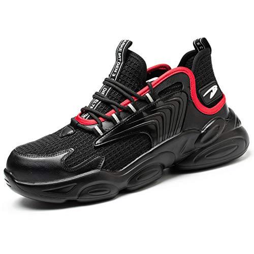 Zapatos de Seguridad s3 Hombre Mujer Zapatillas de Trabajo con Punta de Acero Ligero Transpirable Calzado de Industria y Construcción