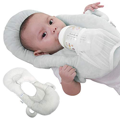 Nursing Pillow, Baby Crib Wedge, Nest Sleeping Pillows, Memory Foam Sleeping Wedge for Breastfeeding Reduce Colic & Acid Reflux