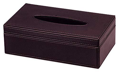 ティッシュケース フェイク レザー ティッシュ カバー ケース ダークブラウン 約26.5×15.5×8.5cm 57-71DBR
