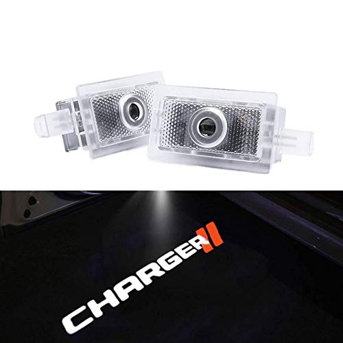 2X Ultra-Bright LED Ghost Shadow Lights Car Door Courtesy Lamps Projector Replacement For Dodge Charger Avenger Magnum
