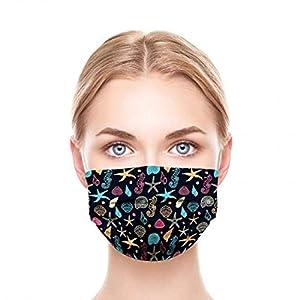 GGSEU Stoffmasken Mundschutz Maske Stoff Mund Nasen Schutzmaske Mund und Nasenschutz Maske waschbar groß (Schaltier)